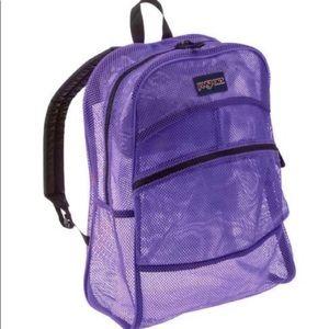 Jansport mesh large purple hiking backpack EUC